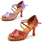 Women's Latin Dance Shoes Ballroom Tango Heeled 5cm and 7cm Salsa Daning Shoes