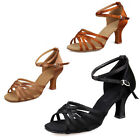 New Satin Ballroon Latin Dance Shoes Party Tango Shoes Heeled Salsa with 7cm 5cm