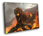 Lava Beast Fire Tiger Painting Art FRAMED CANVAS Print
