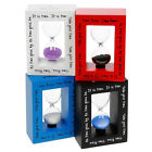Modern Cheerful 3 Minute Sand Timer Ornament Four Colours Available