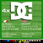 4 ADESIVI STICKERS DC SHOES PEGATINAS AUFKLEBER AUTOCOLLANT KIT