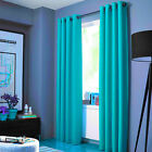 2 PANELS LINED HEAVY THICK BLACKOUT GROMMET WINDOW CURTAIN DRAPE TREATMENT K86