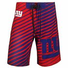 New York Giants Stripes Polyester Board Shorts Swim Trunks By Klew NFL