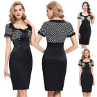 Ladies Vintage 50s 60s Pin Up Bodycon Housewife Party Wiggle Pencil Dress Skirts