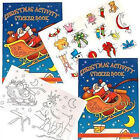 Mini Christmas Activity Sticker Book Ideal Party bag/Stocking Filler Gift