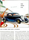 1934 Ford V-8 Coupe - Promotional Advertising Poster