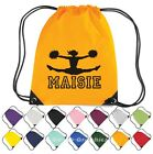 Personalised Cheerleader Drawstring Bag PE/Gym/Swim/Nursery/Dance/School Kit