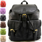 Ladies / Womens Large Faux Leather Travel /Holiday /Weekend Backpack / Rucksack