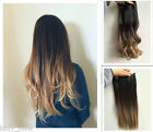 Darkest brown / dirty blonde Thick Ombre Clip in Hair Extensions