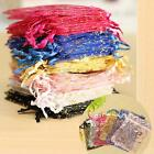 100pcs Organza Gift Bags Jewellery Packing Pouches Wedding Xmas Party Favour Uk