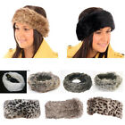 Ladies Faux Fur Fashion Headband Fleece Lined Womens Ski Earwarmers Ear Muffs