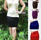 New Womens Ladies Satin Skirt Mini Skirt UK 4 ~ UK 20 #GF0640