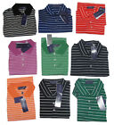 $295 Ralph Lauren Purple Label Italy Mens Striped Button Short Sleeve Polo Shirt