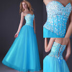 New Wedding Formal Long Evening Ball Gown Party Prom Bridesmaid Dress Size 6-20
