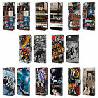 OFFICIAL AC/DC ACDC COLLAGE LEATHER BOOK WALLET CASE FOR APPLE iPHONE PHONES