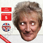 Rod Stewart Celebrity Singer Card Mask - Made In The UK - Fast Dispatch New
