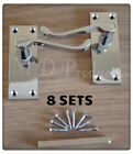 Victorian Polished Chrome Lever Scroll Latch Door Handles (8 Sets)