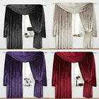 Venezia Plain Velour / Velvet Effect Tape Top Pair Of New Lined Curtain Drapes