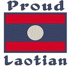 Proud Laotian. Laos Flag. Baby Bodysuit Embroidered