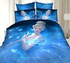 3D Girl Quilt/Duvet/Doona Cover Set Double/Queen/King Size Bed Linen 100% Cotton