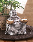 Laughing BUDDHA CANDLE Holder STATUE Sculpture Figurine Tealight  CLEARANCE Sale