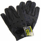 MENS LEATHER GLOVES black  driving gloves gl350