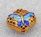14x16mmcloisonne beads Buddhist butterfly character Jewelry accessories gifts#32