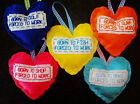 HANDMADE HEART CHRISTMAS STOCKING FILLER DECORATION PRESENT FISH SURF BAKE GOLF