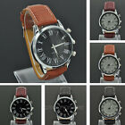 Luxury Classic Men's PU Leather Roman number Buckle Quartz Wristwatch Watch NEW