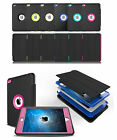 Defender Rubber Heavy Duty Hybrid Case Smart Leather Cover w/Screen For iPad