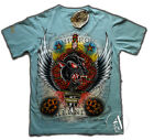EMPEROR ETERNITY T-Shirt old style Tattoo con STRASS PUMA ROCK style Ed Hardy