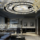 23.62''Modern LED 2Wings Roundness Crystal Ceiling Pendant Lamp lighting Clear