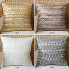 Aurora Home Beaded Mother of Pearl/ Sequin Pillow Pair (Set of 2)