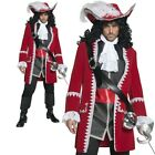 Authentic Pirate Captain Costume Mens Fancy Dress Deluxe Pirate Oufit