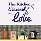 THIS KITCHEN IS SEASONED WITH LOVE - Vinyl Wall Art Sticker, Transfer, Decal