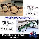 Nerdy Style Clear Lens Glasses Frame Costume Retro Round Ladies and Men
