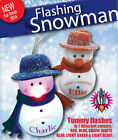 NEW FLASHING SNOWMAN HANGING SLOGAN  CHRISTMAS TREE BAUBLE DECORATION LIGHT XMAS
