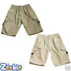 Boys Shorts Multipocket Combat Shorts Khaki Combats Cargo Kids 3-13