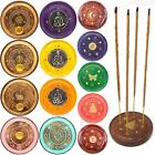 Round Wooden Incense Josh Stick Cone Plate Holder Ash Catcher Home Fragrance UK cheap