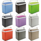 Large 24 Litre Rattan Design Cooler Box Lunch Picnic Beach Cool Ice Pack Option