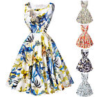 HOT Women's 50s Floral Retro Vintage Prom Homecoming Summer Cocktail  TEA Dress