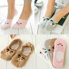 1 Pairs Non-Slip Boat  Loafer  Cotton  Womens Invisible  Low Cut No Show Socks