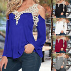 GK Womens Ladies Picnic Summer Loose Casual Long Sleeve V-Neck Tops T shirts New
