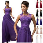 Long APPLIQUE Wedding Evening Dresses Party Gown Prom Bridesmaid Dress PLUS SIZE