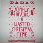 womens ugly christmas sweater t shirt party simply having a wasted time contest