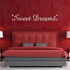 Sweet Dreams Bedroom Quote Wall Art Sticker Decal Home Decor Words 60cm X 10cm