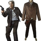 Star Wars The Force Awakens Han Solo Outfit Full Set Comic-con Cosplay Costume