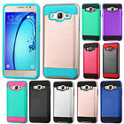 For Samsung Galaxy On5 Premium Brushed Metal HYBRID Rubber Case Phone Cover