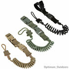 Quick Release Coiled Pistol Safety Lanyard Hand Gun Bungee Tactical Coil