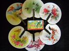 48 folding hand fans,wedding guest,table favor,Pretty Chinese Designs,period